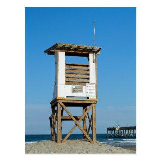 Cartão Postal Suporte 5 do Lifeguard da praia de Wrightsville
