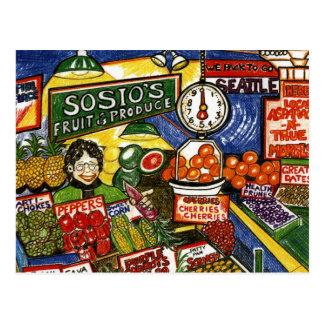 Cartão Postal Suporte de fruta