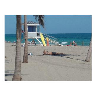 Cartão Postal Suporte do Lifeguard do Ft Lauderdale Florida