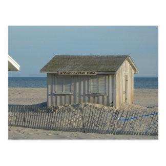 Cartão Postal Suporte do petisco da praia de Jones