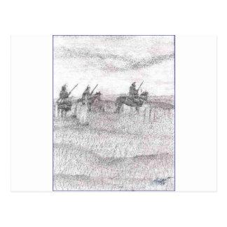 Cartão Postal Suporte do último de Custers
