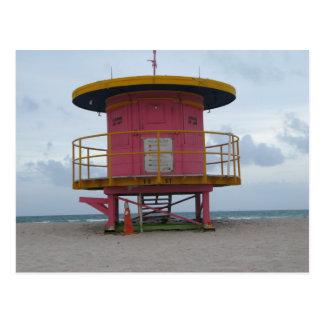 Cartão Postal Suporte sul da guarda de vida da praia