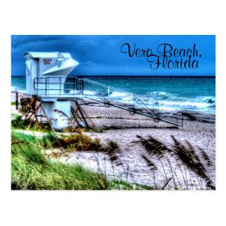 Cartão Postal Suporte Vero Beach Florida do Lifeguard