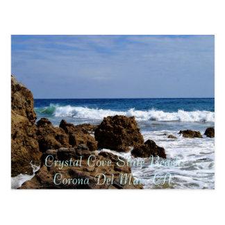 Cartão Postal Surf rochoso, estado de cristal BeachCorona Del da