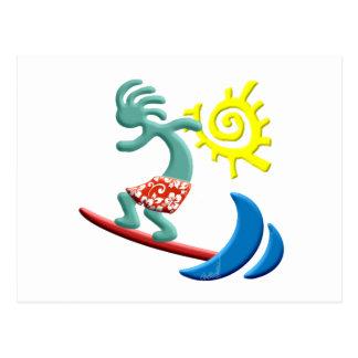 Cartão Postal Surfar de Kokopelli