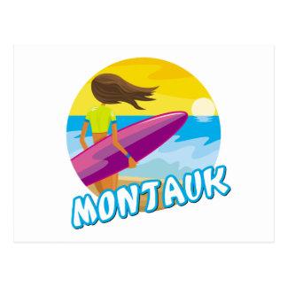 Cartão Postal Surfar de Montauk