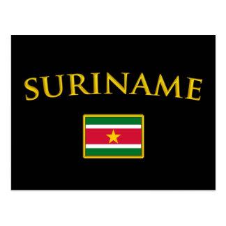 Cartão Postal Suriname dourado