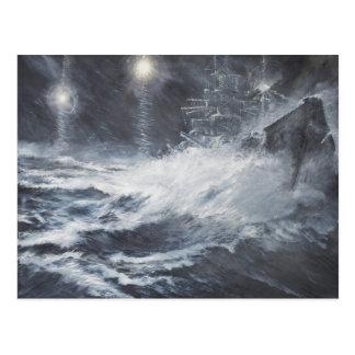 Cartão Postal Surpreendido pela batalha de Starshell Scharnhorst