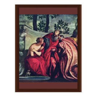Cartão Postal Susanna por Veronese Paolo (a melhor qualidade)