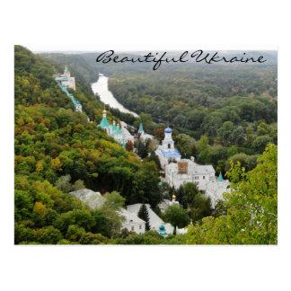 Cartão Postal Sviatohirsk Lavra, Ucrânia