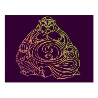 Cartão Postal Swirly Buddha