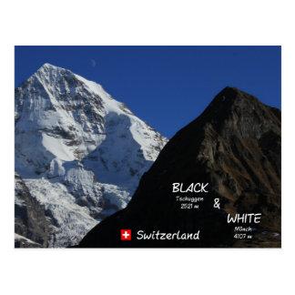 Cartão Postal Swiss Mountains, suíço montanhas frade,
