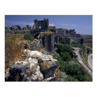 Cartão Postal Syria, castelo de Marqab, cruzados fortifica