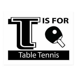 Cartão Postal T é para o ténis de mesa