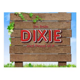 Cartão Postal T eu sou de Dixie