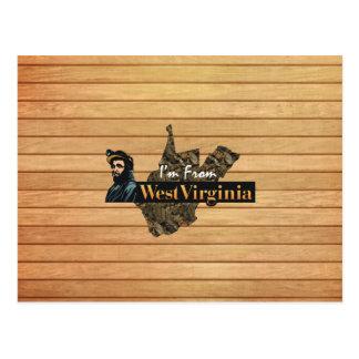 Cartão Postal T eu sou de West Virginia