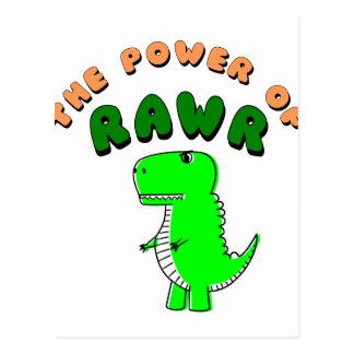 Cartão Postal T-Rex o poder de RAWR