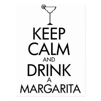 Cartão Postal T-shirt calmo de Margarita da estada