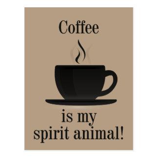 Cartão Postal T-shirt do amante do café