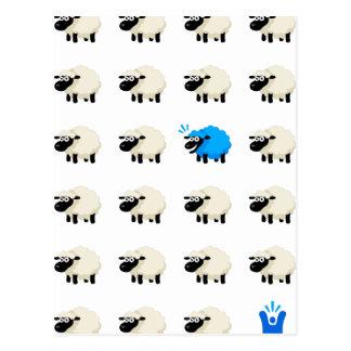 Cartão Postal T-shirt dos carneiros - Feliz-mim