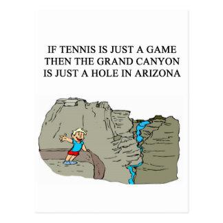 Cartão Postal T-shirt dos presentes do jogador de ténis