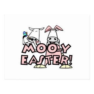 Cartão Postal T-shirt e presentes da páscoa MOO-y