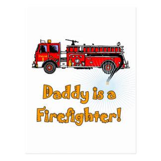 Cartão Postal T-shirt e presentes do sapador-bombeiro do pai da