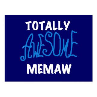 Cartão Postal T-shirt totalmente impressionantes do azul de