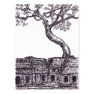 Cartão Postal Ta Prohm, Siem Reap