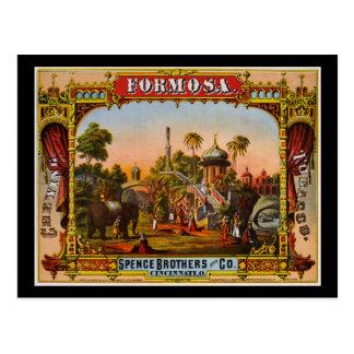 Cartão Postal Tabaco de mastigação de Formosa
