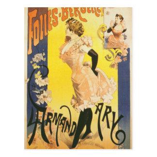 Cartão Postal Taberna francesa de Nouveau da arte do cancan do