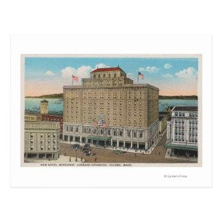 Cartão Postal Tacoma, WA - vista do hotel Winthrop