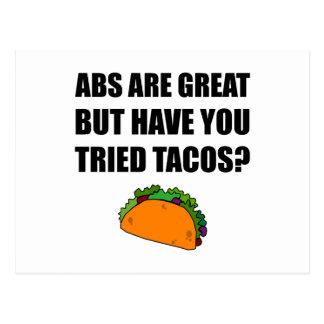 Cartão Postal Tacos experimentado do excelente do ABS