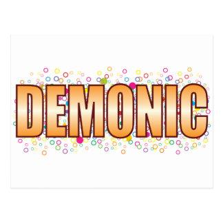 Cartão Postal Tag demoníaco da bolha