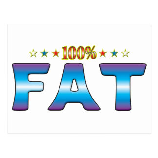 Cartão Postal Tag gordo v2 da estrela