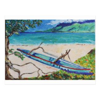 Cartão Postal Tahiti Outriggger