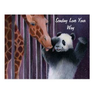 Cartão Postal TAI Shan que obtem um beijo da senhorita Sniffy