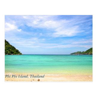 Cartão Postal Tailândia na ilha da phi da phi