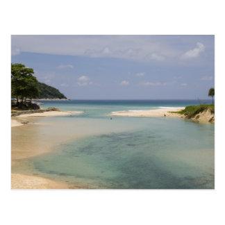 Cartão Postal Tailândia, Phuket, praia do Nai Harn