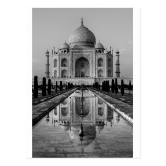Cartão Postal Taj Mahal BW