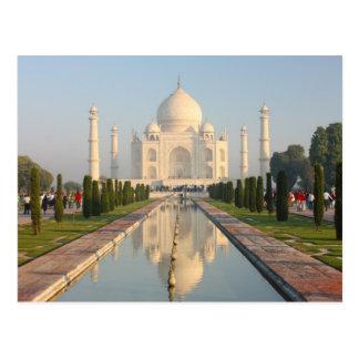 Cartão Postal Taj mahal, monumento histórico famoso de A