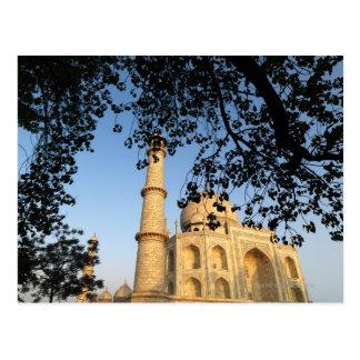Cartão Postal Taj Mahal no nascer do sol. Agra, India 2008.