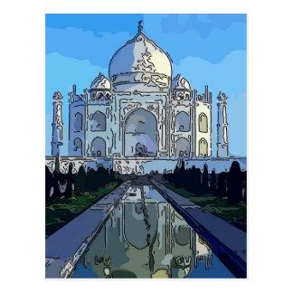 Cartão Postal Taj Mahl
