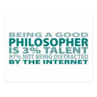 Cartão Postal Talento do filósofo 3%