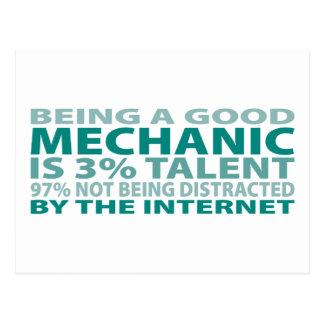 Cartão Postal Talento do mecânico 3%