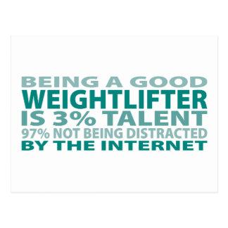 Cartão Postal Talento do Weightlifter 3%
