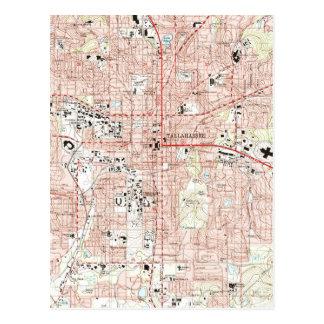 Cartão Postal Tallahassee Florida Mapa (1999)