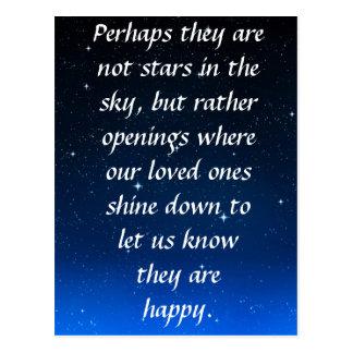 Cartão Postal Talvez não são estrelas no céu mas em aberturas