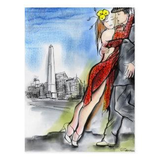 Cartão Postal Tango de Buenos Aires