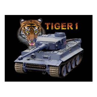 Cartão Postal Tanque alemão do tigre 1
